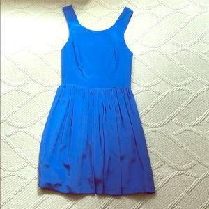 Amanda Uprichard Blue Silk Dress- never worn